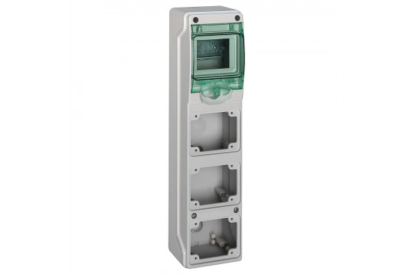 Щит KAEDRA для промислових роз'ємів, 392х98х98, 4мод. Schneider Electric 13177