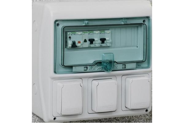 Щит KAEDRA для промислових роз'ємів, 335х340х160, 12+1мод. Schneider Electric 13180