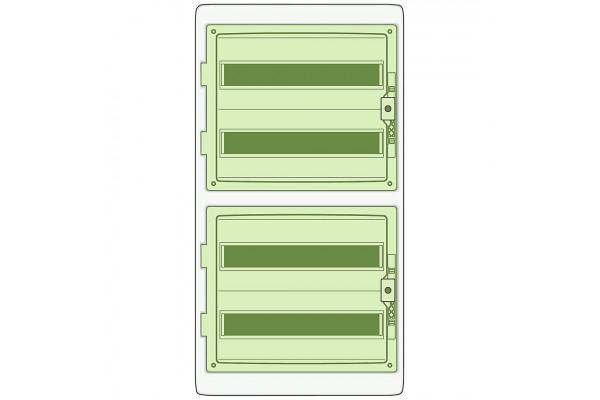 Щит розподільний KAEDRA з дод. клемниками, 842х448х160, 72мод. Schneider Electric 13437