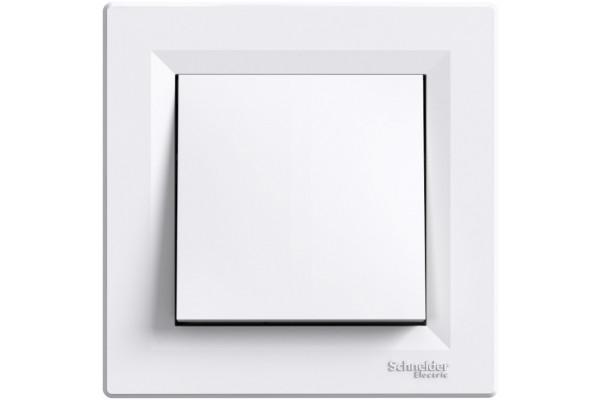 Вимикач одноклавішний, Білий, Asfora EPH0100121