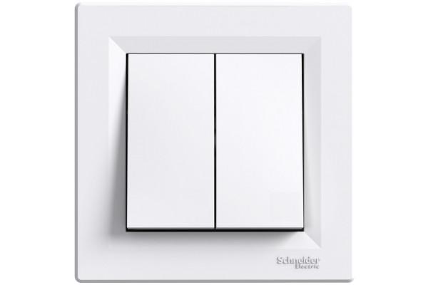 Кнопка подвійна, Біла, Asfora EPH1100121