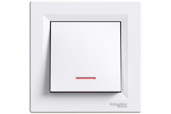 Кнопка з підсвіткою, Біла, Asfora EPH1600121