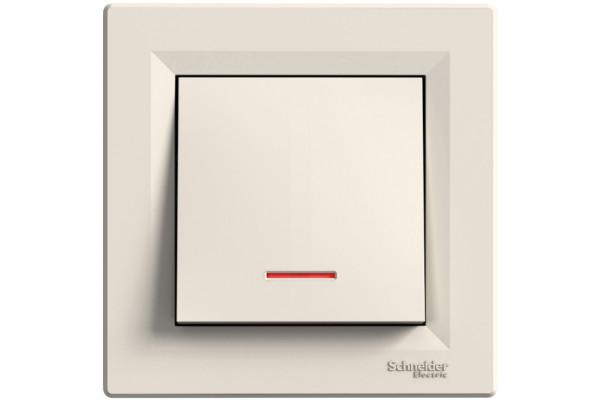 Кнопка з підсвіткою, Кремова, Asfora EPH1600123