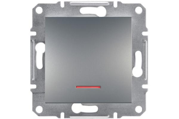 Кнопка з підсвіткою, Сталь, Asfora, EPH1600162