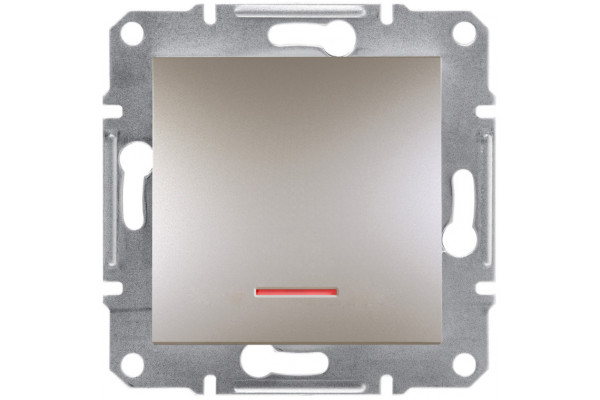 Кнопка з підсвіткою, Бронза, Asfora, EPH1600169