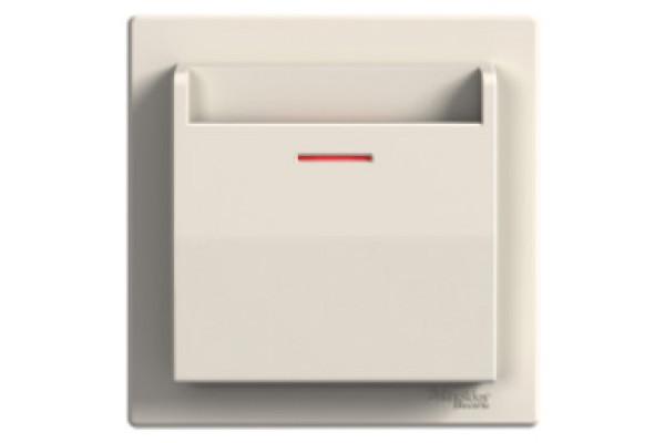 Вимикач картковий, Кремовий, Asfora EPH6200123
