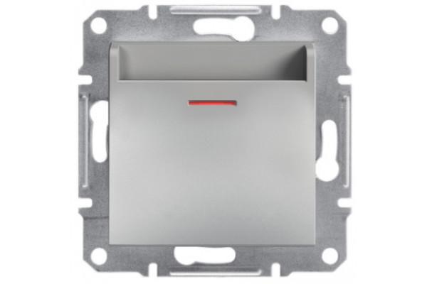 Вимикач картковий, Алюміній, Asfora, EPH6200161