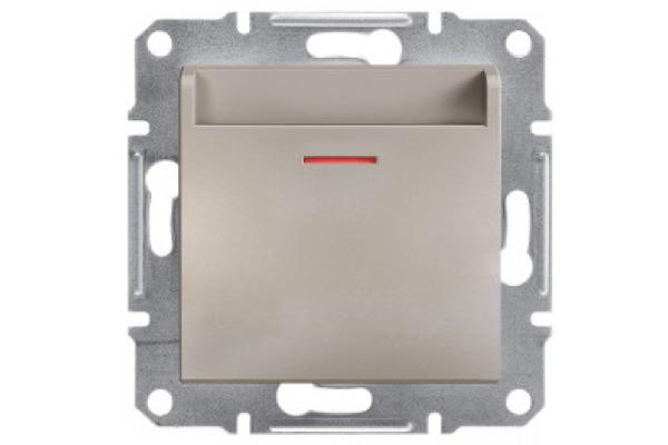 Вимикач картковий, Бронза, Asfora, EPH6200169