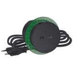 Розетка USB для зарядки в стіл, антрацит, Schneider Electric INS44009