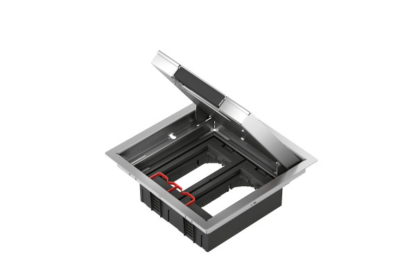 Металевий люк для розеток, 8 модулей, OptiLine 45 Schneider Electric ISM51624