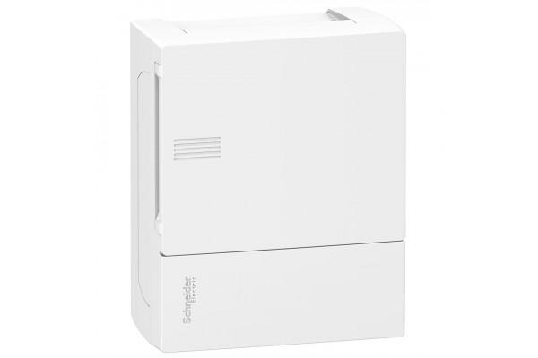 Щит MINI PRAGMA 1ряд/6 модулів, навісний, білі дверцята Schneider Electric MIP12106