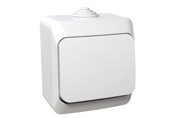 Перемикач одноклавішний, Білий, Cedar Plus WDE000560