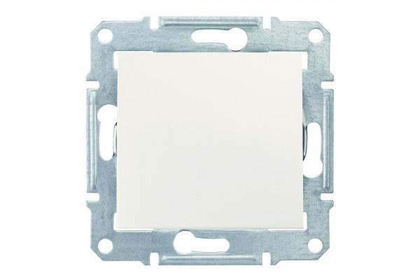 Одноклавішний вимикач10А-250В, IP44, Слонова кістка, Sedna SDN0100323