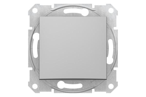 Одноклавішний перемикач 10А-250В, Алюміній, Sedna SDN0400160