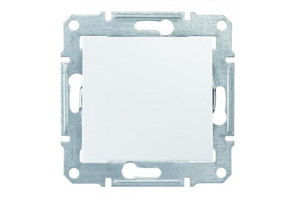 Одноклавішний кнопковий вимикач, Білий, Sedna SDN0700121