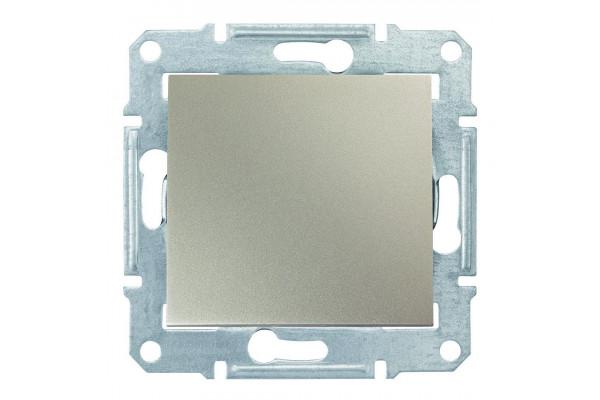 Одноклавішний кнопковий вимикач, Титан, Sedna SDN0700168