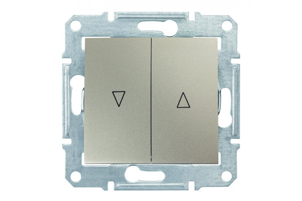 Вимикач для жалюзі з електричним блокуванням 10А-250В Титан, Sedna SDN1300168