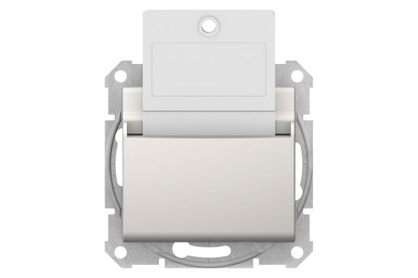 Карточний вимикач 10А-250В, Слонова кістка, Sedna SDN1900123