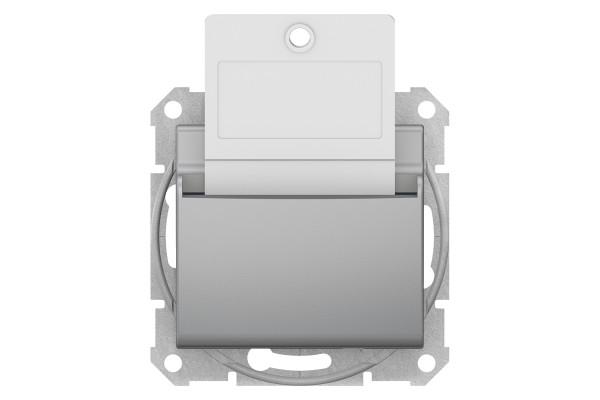 Карточний вимикач 10А-250В, Алюміній, Sedna SDN1900160