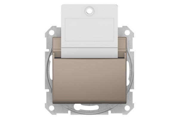 Карточний вимикач 10А-250В Титан, Sedna SDN1900168