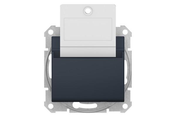 Карточний вимикач 10А-250В Графіт, Sedna SDN1900170