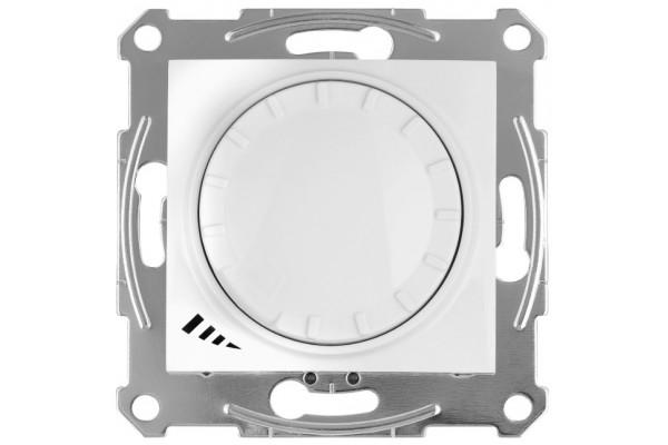 Світлорегулятор LED поворотно-натискний універсальний, 230 В, 4-400 Вт/ВА, Білий, Sedna SDN2201221