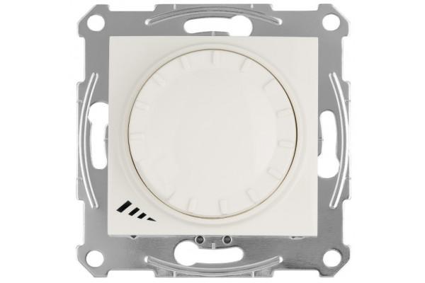 Світлорегулятор LED поворотно-натискний універсальний, 230 В, 4-400 Вт/ВА, Слонова кістка, Sedna SDN2201223