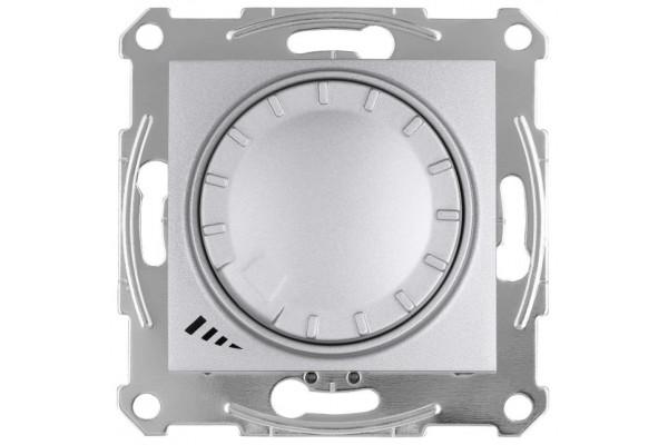 Світлорегулятор LED поворотно-натискний універсальний, 230 В, 4-400 Вт/ВА, Алюміній, Sedna SDN2201260