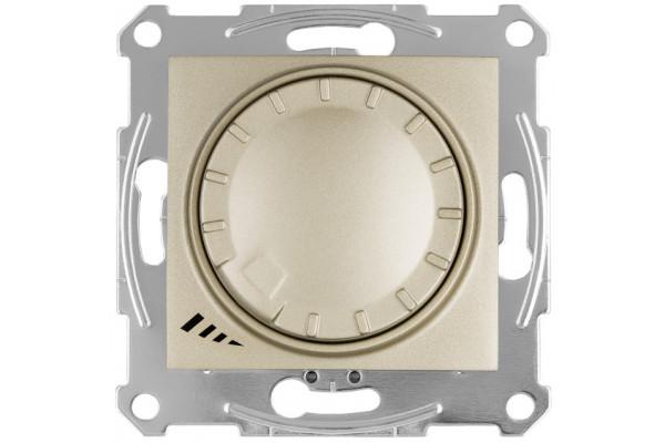 Світлорегулятор LED поворотно-натискний універсальний, 230 В, 4-400 Вт/ВА, Титан, Sedna SDN2201268