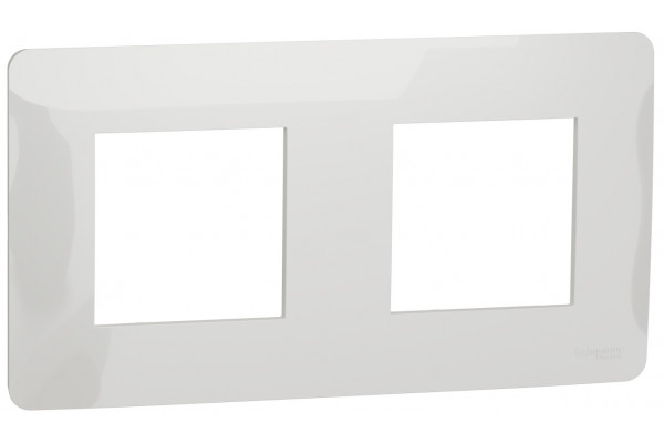 Рамка 2-постова, Білий, Schneider Unica NEW Studio NU200418