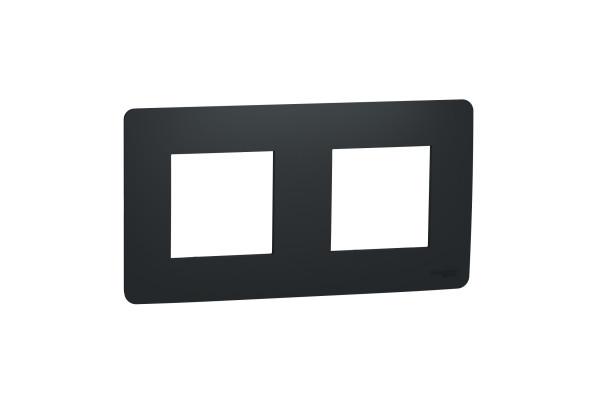 Рамка 2-постова, Антрацит, Schneider Unica NEW Studio NU200454