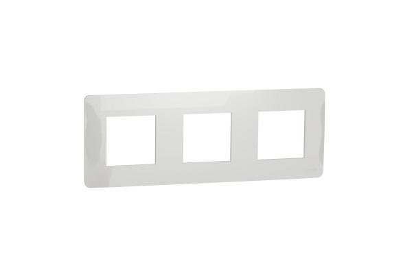 Рамка 3-постова, Білий, Schneider Unica NEW Studio NU200618