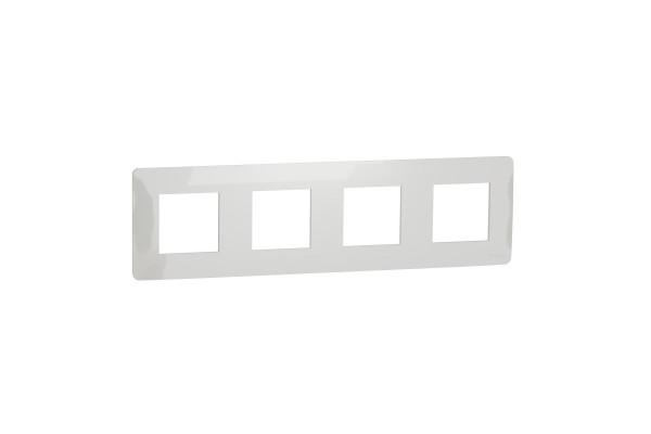 Рамка 4-постова, Білий, Schneider Unica NEW Studio NU200818