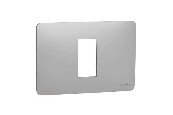 Рамка 1-модульна, Алюміній, Schneider Unica NEW Studio NU210130