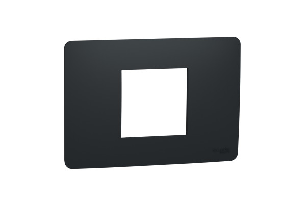 Рамка 2-модульна, Антрацит, Schneider Unica NEW Studio NU210254
