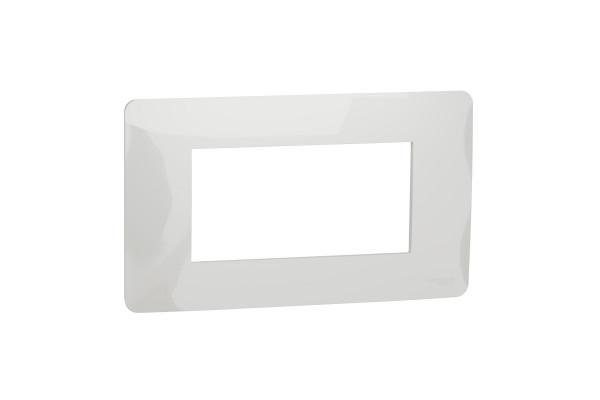 Рамка 4-модульна, Білий, Schneider Unica NEW Studio NU210418
