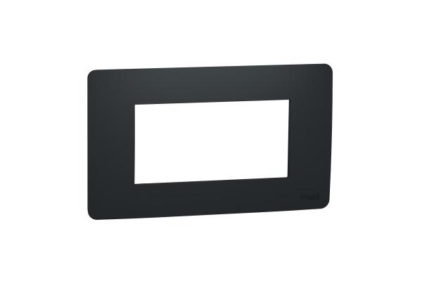 Рамка 4-модульна, Антрацит, Schneider Unica NEW Studio NU210454