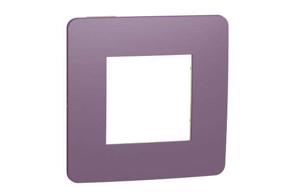 Рамка 1-постова, Ліловий/бежевий, Schneider Unica NEW Studio NU280215