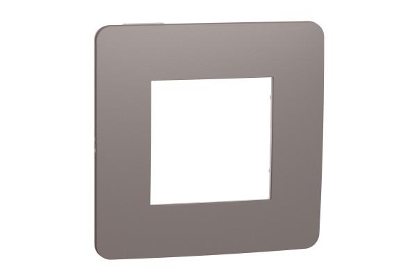 Рамка 1-постова, Шоколад/білий, Schneider Unica NEW Studio NU280216