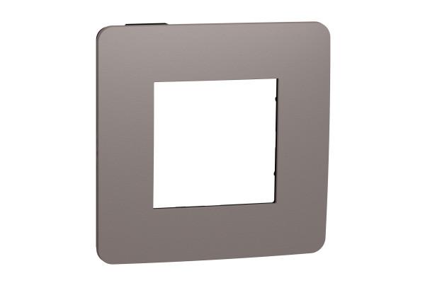 Рамка 1-постова, Шоколад/антрацит, Schneider Unica NEW Studio NU280217