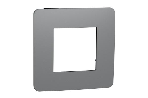 Рамка 1-постова, Димчато-сірий/антрацит, Schneider Unica NEW Studio NU280222