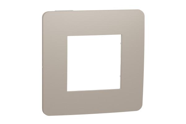 Рамка 1-постова, Пісочний/білий, Schneider Unica NEW Studio NU280226