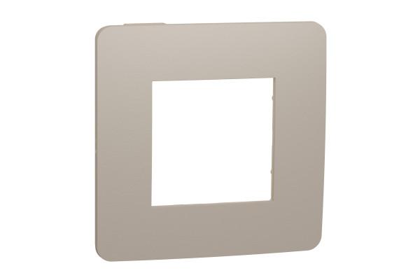 Рамка 1-постова, Пісочний/бежевий, Schneider Unica NEW Studio NU280227