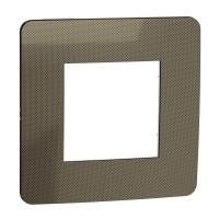 Рамка 1-постова, Бронза/білий, Schneider Unica NEW Studio NU280250