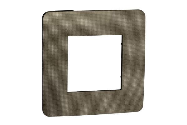 Рамка 1-постова, Бронза/антрацит, Schneider Unica NEW Studio NU280252