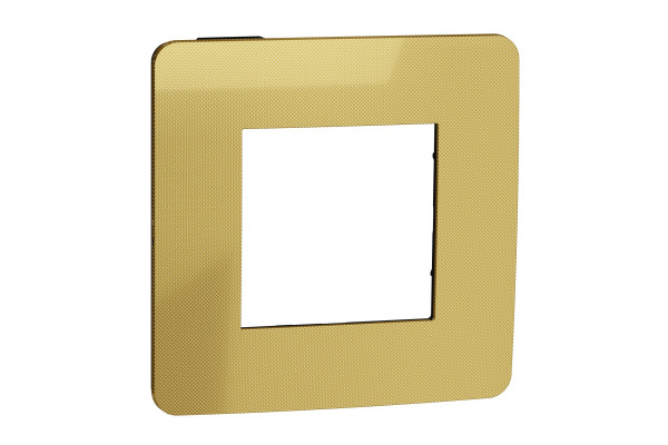 Рамка 1-постова, Золото/антрацит, Schneider Unica NEW Studio NU280262