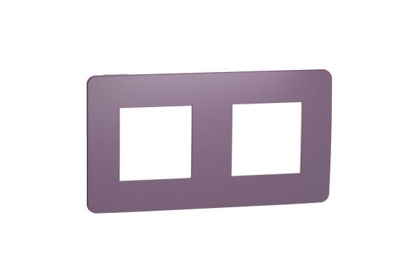 Рамка 2-постова, Ліловий/білий, Schneider Unica NEW Studio NU280414