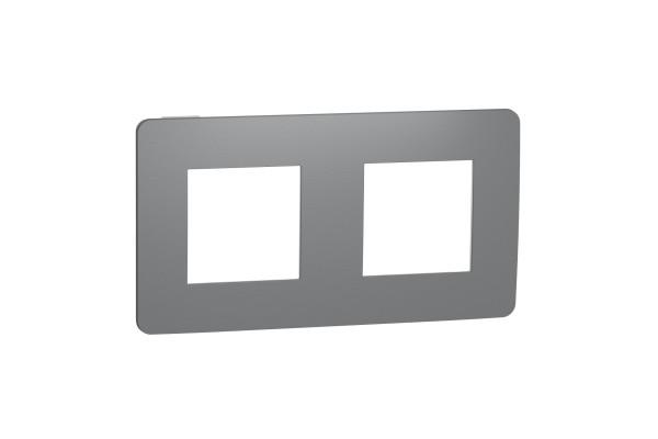Рамка 2-постова, Димчато-сірий/білий, Schneider Unica NEW Studio NU280421