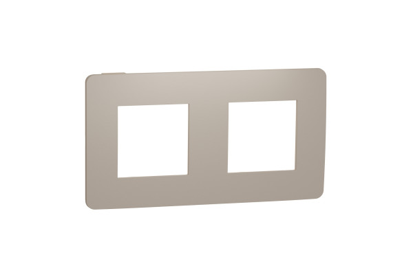 Рамка 2-постова, Пісочний/бежевий, Schneider Unica NEW Studio NU280427