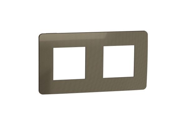 Рамка 2-постова, Бронза/білий, Schneider Unica NEW Studio NU280450